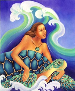 goddess-turtle woman